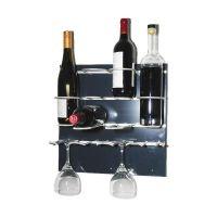 Flaschen-Bar XS - 6 Flaschen / 4 Gläser - Anthrazit href=