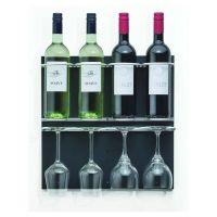 Flaschen-Bar XXS - 4 Flaschen / 4 Gläser - Anthrazit href=