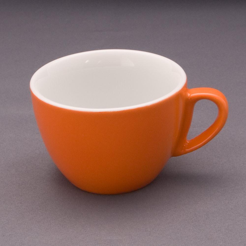 la vida orange cappuccino obere 18 cl tassen und henkelbecher geschirr kurzserien einzelt. Black Bedroom Furniture Sets. Home Design Ideas