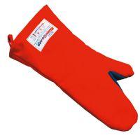 Backhandschuh Polyester/BW - Länge 38 cm - Rot href=