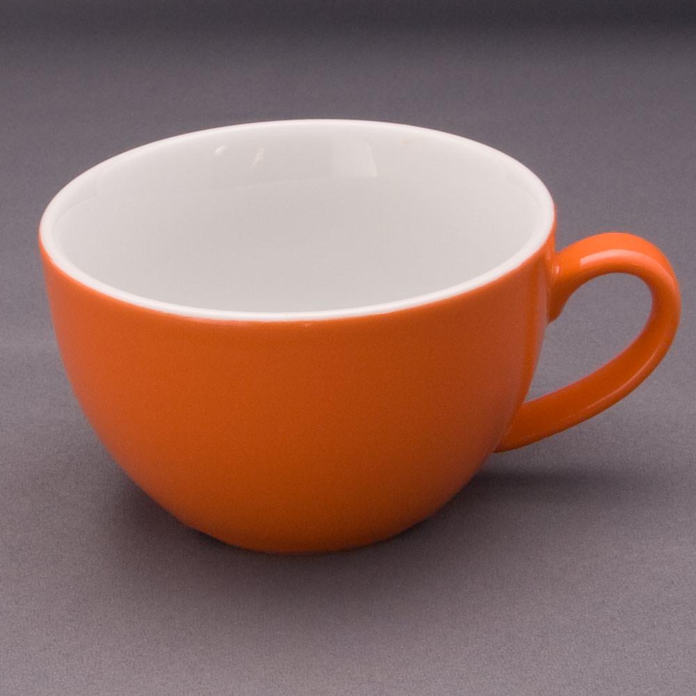 la vida orange milchkaffee obere 27 cl tassen und henkelbecher geschirr kurzserien einzelt. Black Bedroom Furniture Sets. Home Design Ideas