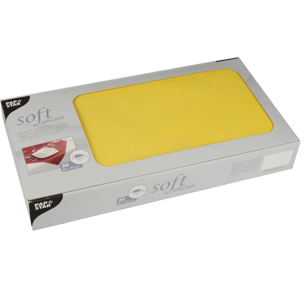 soft selection mitteldecken pp vlies 80 x 80 cm gelb 5 x 20 st ck ew tischdecken. Black Bedroom Furniture Sets. Home Design Ideas