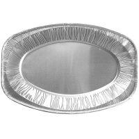 Alu-Partyplatte oval - 43 x 29 cm (10 Stück) href=