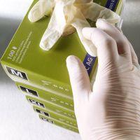 Latex-Einmalhandschuhe puderfrei - Größe L (100 Stück) href=
