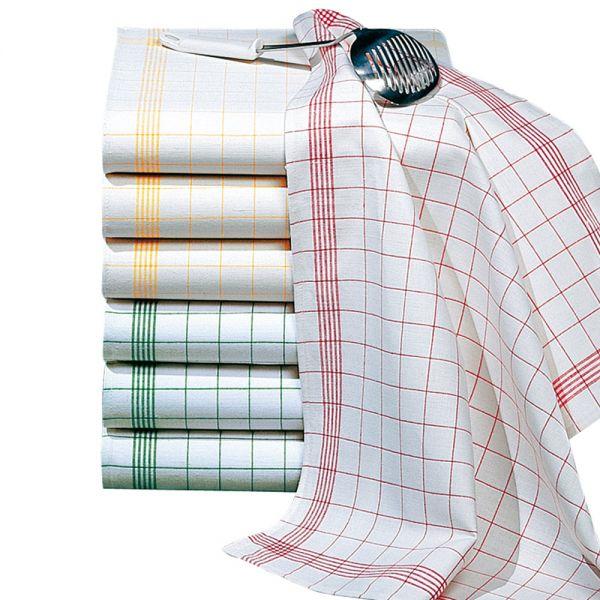 Geschirr- & Gläsertuch 70 x 50 cm - Rot-Weiß (Halbleinen)