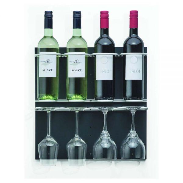 Flaschen-Bar XXS - 4 Flaschen / 4 Gläser - Anthrazit