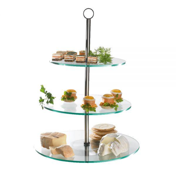dessert etag re 3 stufig 30 x 41 cm glas buffetschalen etageren buffet buffet. Black Bedroom Furniture Sets. Home Design Ideas