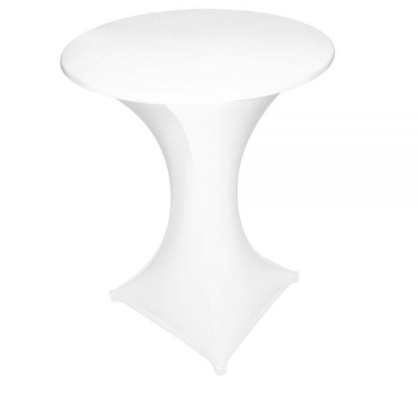 GALACTICA Stehtisch-Überzug/Husse Ø 80 - 85 cm - Weiß (2-teilig)