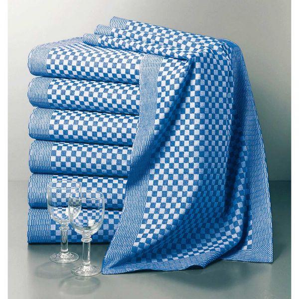 Grubentuch schwer 90 x 45 cm - blau-weiß (100% Baumwolle)