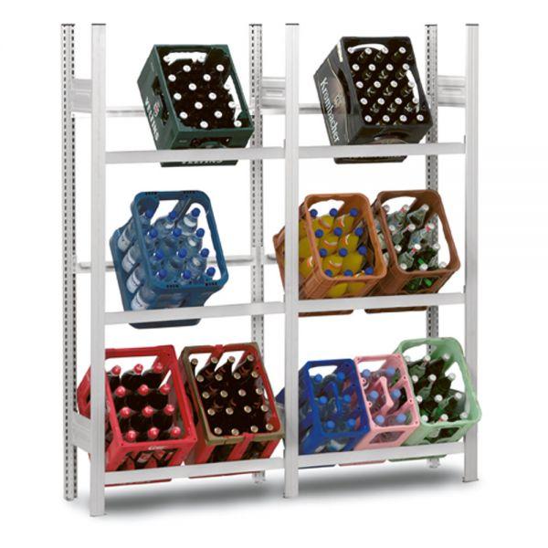 Getränkekisten-Grundregal für 3 x 2 Kisten - 81 cm | Regale ...